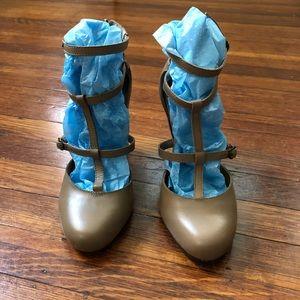 Seychelles strappy block heels - tan